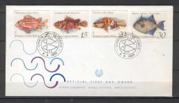 Cyprus 1993 (Vl 641-644) Fishes Of Cyprus FDC - Chypre (République)
