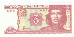 Cuba   3 Pesos With CHE GUEVARA   UNC - Cuba