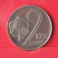 CZECHOSLOVAKIA  2  KORUNY  1991   KM# 148  -    (Nº12228) - Czechoslovakia