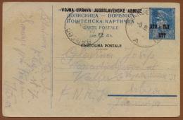 YUGOSLAVIA-SLOVENIA-ITALY, TITO STT-VUJNA 2 Dinar CARD SMARJE PRI KOPRU 1950 RARE!!!!!!!!!!!! - Interi Postali