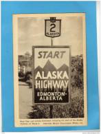 -+CANADA-start Alaska High Way -edmonnton Alberta-la Route N°2 -années 30+40 - Alberta