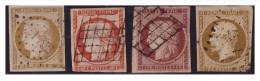 N°1, 5, 6, 9 - Avec Défts Divers - Mais Bel Aspect - 1849-1850 Cérès