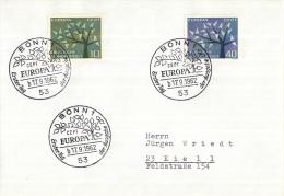 Duitsland - Erstausgabe - 17-9-1962 - Europa/CEPT - M383-384 - 1962