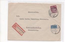 BIZONE   R -  BRIEF (DRENSTEINFURT)     1950  Mit    NOTOPFER - Zone Anglo-Américaine
