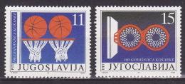 Yugoslavia 1991. 100 Years Of Basketball, MNH(**) Mi 2484/85 - Neufs