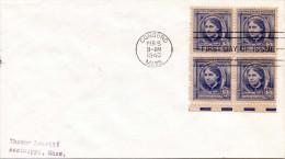 USA CONCORD MASS. - 5 Cent 4er Block Auf First Day Cover 1940 - Vereinigte Staaten