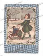 BUON NATALE - Bambino Baby Bambola Gioco Toy Slitta Paesaggio Neve - Illustratore - Non Classificati