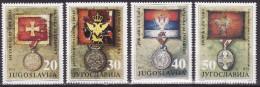 Yugoslavia 1991. Art, Museum Exhibits, Medals, MNH(**) Mi 2510/13 - Neufs