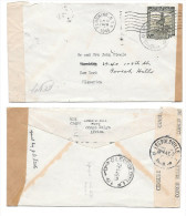 1945 WWII Belgian Congo Censored Cover To US Double Censor Tapes Dual Postmarks Redirected - Belgian Congo