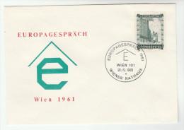 1961 Vienna  EUROPEAN TALKS EVENT COVER Austria Stamps Europa - European Ideas