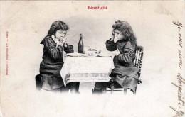 Mädchen Und Bub Beim Tischgebet - Sehr Hübsche Alte Karte - Stempel Trossey > Macon/Saone Et Loire - Szenen & Landschaften