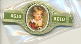 14-825. Vitolas. Agio. Retratos De Niños. Verde, 24 Vitolas. - Cigar Bands
