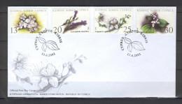 Cyprus 2002 (Vl 823-826) Therapeutic Plants Of Cyprus FDC - Chypre (République)
