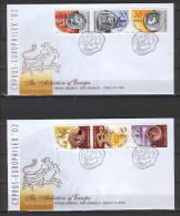 Cyprus 2002 (Vl 831-836) European Philatelic Exhibition - Europhilex FDC - Chypre (République)