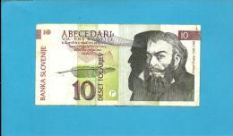 SLOVENIA - 10 TOLARJEV - 1992 - Pick 11 - Prefix SG - Banka Slovenije - 2 Scans - Slovénie