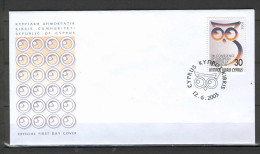 Cyprus 2003 (Vl 850) Conference Of European Ministers Of Education FDC - Cartas