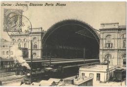 Riproduzione Di Antica Cartolina Da Collezione Privata - Torino - Interno Stazione Porta Nuova - Stazione Porta Nuova