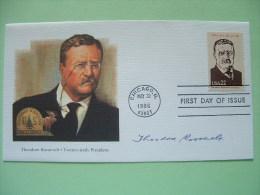 USA 1986 FDC Cover Presidents - Roosevelt - U.S. Forest Service - Moose - Etats-Unis