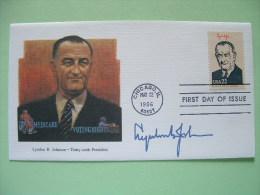 USA 1986 FDC Cover Presidents - Lyndon Johnson - Medicare - Voting Rights - Stati Uniti