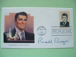 USA 1986 FDC Cover Presidents - Ronald Reagan - John F. Kennedy - Space - Etats-Unis