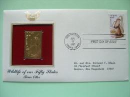 USA 1987 FDC Cover CAPEX Canada - Wildlife - Gold Replica - River Otter - Lettres & Documents