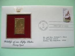 USA 1987 FDC Cover CAPEX Canada - Wildlife - Gold Replica - Snowy Egret - Bird - Lettres & Documents