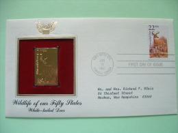 USA 1987 FDC Cover CAPEX Canada - Wildlife - Gold Replica - White-tailed Deer - Etats-Unis