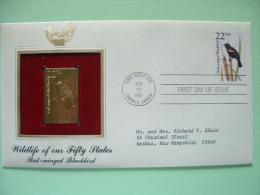 USA 1987 FDC Cover CAPEX Canada - Wildlife - Gold Replica - Red-winged Blackbird - Bird - United States
