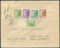 URUGUAY Domestic Registered Cover W/Original Franking - Uruguay