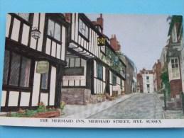 The MERMAID INN, Mermaid Street Rye () Anno 19?? ( Zie/voir Foto Voor Details ) !! - Rye