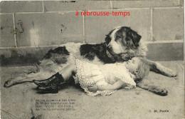 CPA En 1904-enfant Qui Rêve Devant Son Gros Chien - Dogs