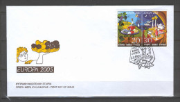 Cyprus 2005 (Vl 887B+888B) Europa - IMPERFORATE On The BOTTOM Set From BOOKLET UNOFFICIAL FDC - Chypre (République)