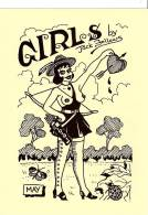 GLAMOUR GIRLS  SET FOUR LIMITED EDITION POSTCARDS By Artist JACK FOLLOWS  MINT - Illustrateurs & Photographes