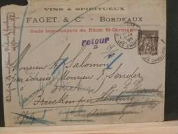 49/200A  LETTRE DE TAGHIT (ALGERIE) 1903  FRANCHISE POSTALE TROUPES D'OCCUPTION - Marcofilie (Brieven)
