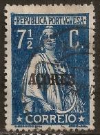 Açores – 1918 Ceres Type 7 1/2 Centavos - Azores
