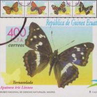 Guinée équatoriale 2000 Y&T 392/5. Annulations Comptables Pour La Presse Philatélique. Papillons. Chiffre, Cuivre, Paon - Schmetterlinge