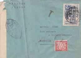 1941 LETTRE DU PORTUGAL OUVERTE PAR LA CENSURE TAXEE 0.30F LISBOA MARSEILLE  / 5409 - Francia