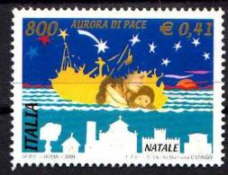 PIA - 1TALIA - 2001 : Natale  - (SAS 2577-78) - 1946-.. Republiek