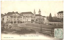 74 - ANNECY - La Place Aux Bois +++ Pittier, Annecy, #176 +++ Vers Lyon, 1905 +++ RARE - Annecy