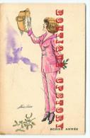SAGER  XAVIER  ILLUSTRATEUR - SOUHAITS En PYJAMA N° 84 < BONNE ANNEE - PENDULE HORLOGE - Sager, Xavier