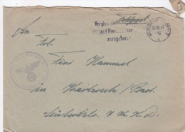 Feldpost WW2: Wrong Year In Postmark - 4./Panzer Jäger Ausbildungs Abteilung 5 In Karlsruhe P/m Karlsruhe  26.10.1947 - - Militaria