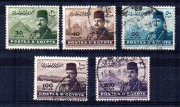 Egypt - 1947 - King Farouk (Part Set) - Used - Égypte
