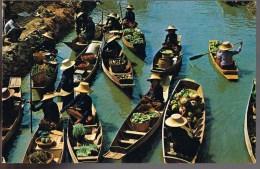 Floating Market Damnernsaduak . - Thaïlande