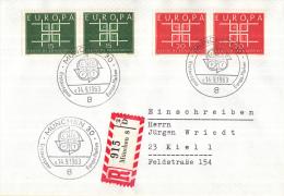 Duitsland - Erstausgabe - 14-9-1963  - Europa/CEPT - M406-407 - Europa-CEPT
