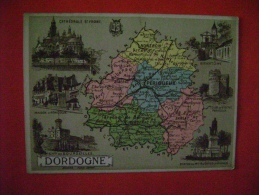 IMAGE DEPARTEMENT DE LA DORDOGNE  -LIBRAIRIE HACHETTE - Mapas