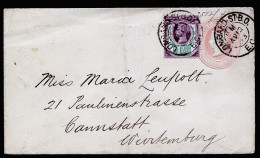 A3168) UK Grossbritannien Cover From London 08/12/1893 To Germany