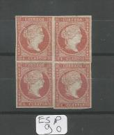 ESP  Edifil  44 Xx Bloc De 4 YT 39 - 1850-68 Royaume: Isabelle II