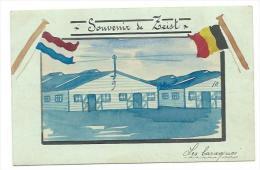 PAYS BAS... Souvenir De ZEIST. Les Baraques... Carte Peinte Aquarellée - Zeist
