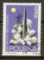 POLOGNE  /  POLSKA.    -    ESPACE  /   COSMOS   /   FUSEE     -    Oblitéré - Space