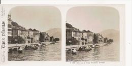 TREMEZZO LAC DE COME LE QUAI VUES D'ITALIE 109.316 (PHOTO STEREOSCOPIQUE ANCIENNE) - Stereoscopic